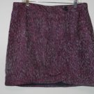 NWT Ann Taylor LOFT Skirt, Burgundy-Multi Color with Shimmer, Size 12