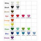 1000 Heart Shaped KAM Plastic Resin Snaps Craft Baby Cloth Diaper Choose Colors