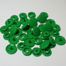100 Sets Kelly Green KAM Plastic Resin Snaps Crafts Baby Cloth Bib Diaper