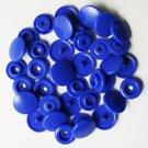100 Sets Royal Blue KAM Plastic Resin Snaps Baby Cloth Bib Diapers