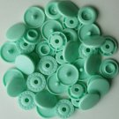 100 Sets Pastel Green KAM Plastic Resin Snaps Baby Cloth Bib Diapers
