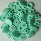 100 Sets Pastel Green KAM Plastic Resin Snaps Baby Cloth Bib Diapers