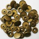 100 Sets Gold KAM Plastic Resin Snaps Baby Cloth Bib Diapers