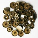 100 Sets Bronze Brown KAM Plastic Resin Snaps Baby Cloth Bib Diapers