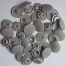 100 Sets Light Grey KAM Plastic Resin Snaps Baby Cloth Bib Diapers