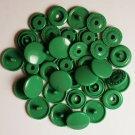 100 Sets Jade Green KAM Plastic Resin Snaps Baby Cloth Bib Diapers