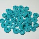 50 Sets Teal (B-46) KAM Plastic Resin Snaps Crafts Baby Cloth Bib Diaper