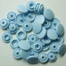50 Sets Baby Blue (B-20) KAM Plastic Resin Snaps Baby Cloth Bib Diapers