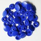 50 Sets Royal Blue (B-16) KAM Plastic Resin Snaps Baby Cloth Bib Diapers
