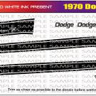 1970 Dodge Challenger R/T Decal Set Black 1:25 Scale