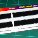 1974-81 Camaro SS Stripe Set - Black