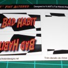 Bad Habit Fiat Altered Coupe Decal Set