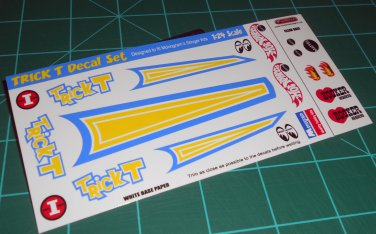 Trick T Decal Set A 1:24 Scale
