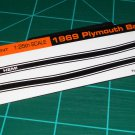 1969 Plymouth Barracuda HEMI Decal Set Black