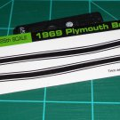 1969 Plymouth Barracuda 383 Decal Set Black
