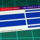 1967 Shelby GT-350 Ford Mustang Decal Set  Blue