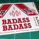 Badass 55' Pro Sportsman Decal Set Red