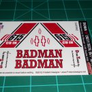 Badman 55' Pro Sportsman Decal Set Red