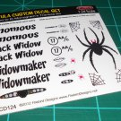 Venomus / Black Widow / Widowmaker Decal Set