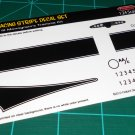 Trantula Racing Stripe Decal Set Black