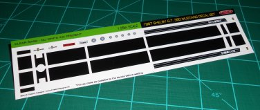 1967 Shelby GT-350 Ford Mustang Decal Set  Black