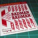 Badman 55' Decal Set C