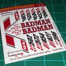 Badman 55' Decal Set B