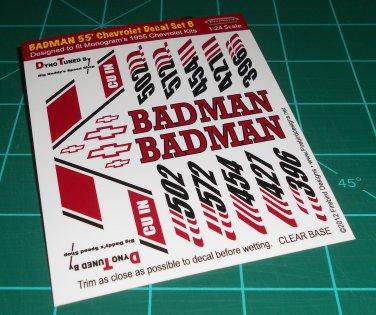 Badman 55' Decal Set B