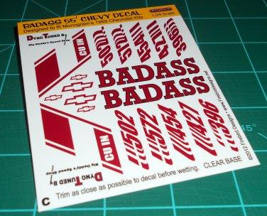 Badass 55' Decal Set C