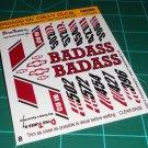 Badass 55' Decal Set B