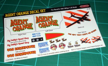 Agent Orange Decal Set for 41 Willys