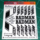 Badman 55' Decal Set D