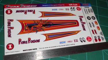 Pure Poison Decal Set 1:24 Scale