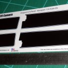 1969 Chevrolet Z28 Camaro Decal Set Black 1:24 Scale