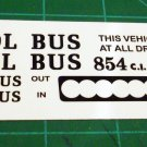 S'COOL BUS 1:24  Scale Decal Sheet