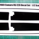 1969 Camaro RS/Z28 Decal Set 1:12 Scale - Black