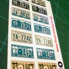 Colorado License Plate Set 1:12 Scale