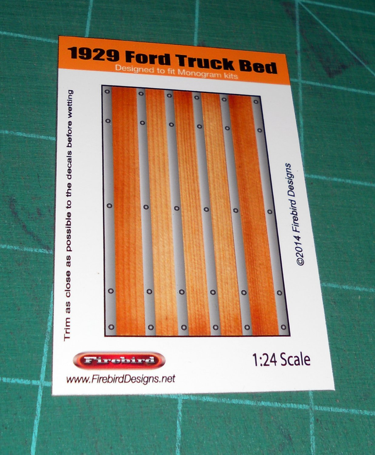 1929 Ford Truck Wood Bed Decal 1:24 Scale
