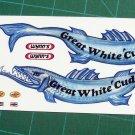 Great White Cuda Funny Car Decal Set 1:24