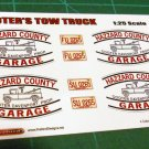 Cooter Davenport's Tow Truck Decal Set 1:25 Scale