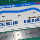 1967 Camaro Pace Car Decal Set 1:32 Scale