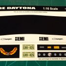 1969 Dodge Daytona - BLack 1:16 Scale
