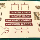 Popcorn Wagon Decal Set 1:20 Scale
