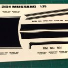 1971 BOSS 351 Ford Mustang Decal Set 1:25 Scale - Black