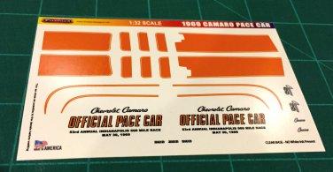 1969 Camaro Pace Car Decal Set 1:32 Scale