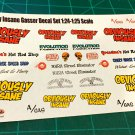 Obviously Insane Gasser Decal Set 1:24-1:25 scale