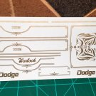 Dodge Warlock Truck Decal Set 1:25 scale