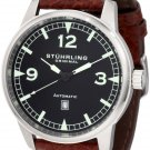 Stuhrling Original Men's 129XL.3315K1 Aviator Tuskegee Warhawk Automatic Date Black Watch