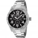 Invicta Men's 41704-003 Stainless Steel Black Dial Watch