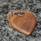 Olive Wood Pendant, wood jewellery, Heart